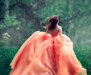 dress, orange, and fashion image