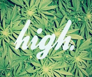 weed, high, and marijuana image