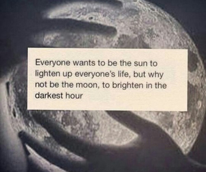 moon, sun, and quote image