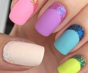 nails, colorful, and nail polish image