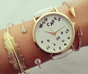 watch, bracelet, and who cares image