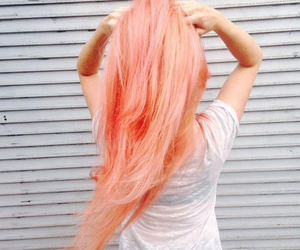 hair, girl, and peach image