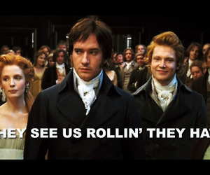 funny, mr darcy, and pride and prejudice image