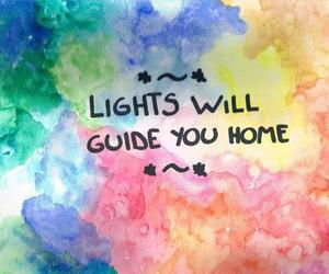 coldplay, light, and home image