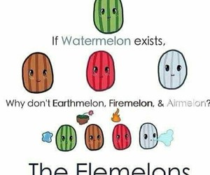 elements, lol, and watermelon image