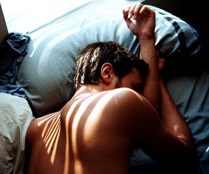 bed, boy, and Hot image