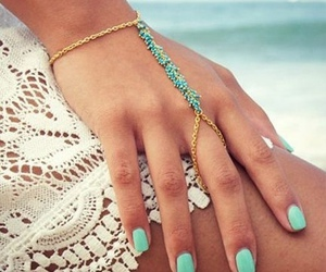 nails, summer, and beach image