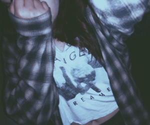 dreamer, flannel, and grunge image