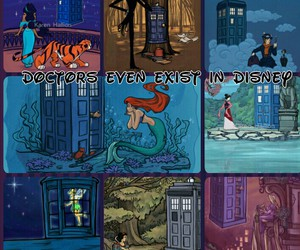 ariel, disney, and doctor who image