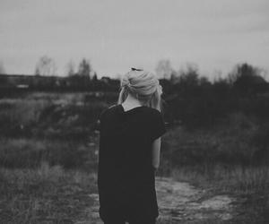 girl, photography, and black image