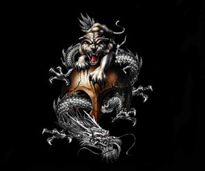 awesome, dragon, and skull image
