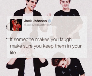 best friends, jack johnson, and laugh image