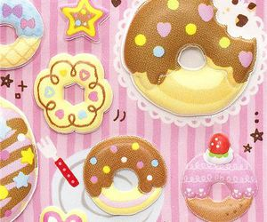donuts, japanese stickers, and cute stickers image