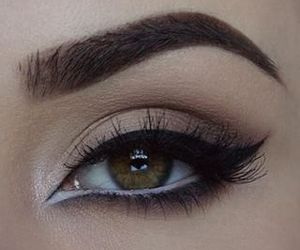 makeup, style, and eyeliner image