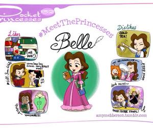 belle, disney, and pocket princesses image