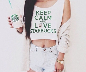 starbucks, clothes, and fashion image