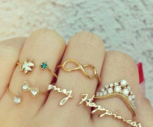 rings, accessories, and infinity image