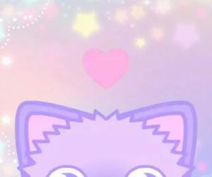 cat, kawaii, and purple image