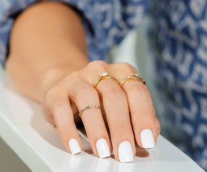 gold, manicure, and rings image