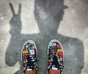 shoes, skater boy, and vans image