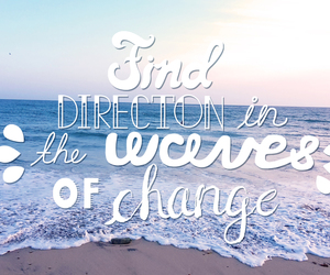 waves, beach, and quote image