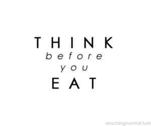 eat, think, and text image