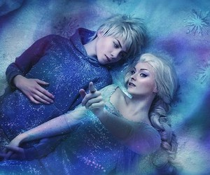 frozen, elsa, and jack frost image