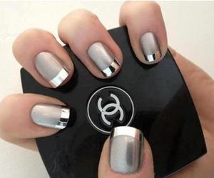 nails, chanel, and grey image