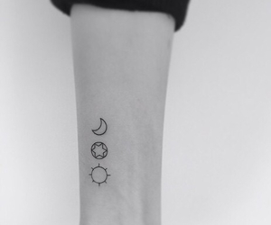 tattoo, asian, and moon image