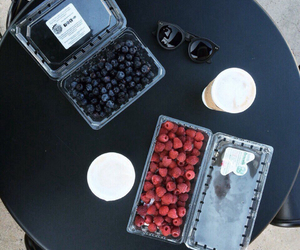 food, berries, and cafe image