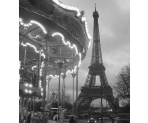 black and white, carnival, and paris image