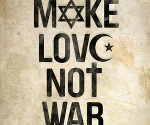 love, peace, and religion image
