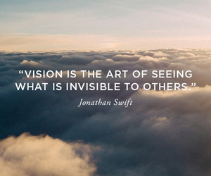 clouds, quote, and vision image