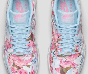 flowers, tennis shoes, and nike image