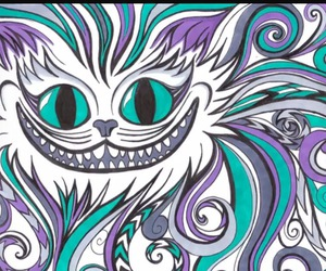 Cheshire cat and alice in wonderland image
