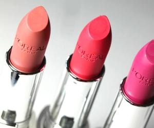 lipstick, loreal, and makeup image