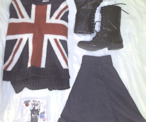 boots, outfit, and british image