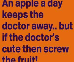 apple, quotes, and funny image