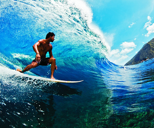surf, ocean, and surfing image