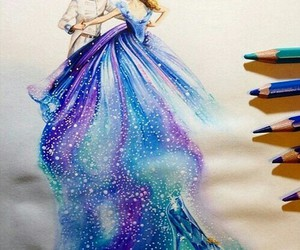 cinderella, art, and drawing image