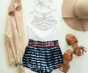 hat, outfit, and summer image