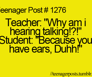teacher, teenager post, and text image