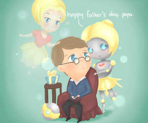 chibi, father's day, and girl image