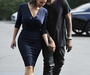 kim kardashian, kanye west, and kim image