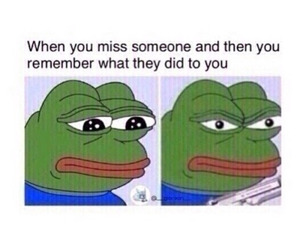funny, quotes, and pepe image