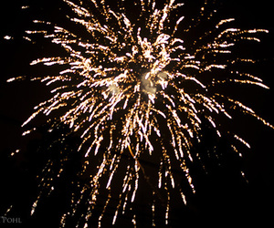 fireworks, christmas, and gold image