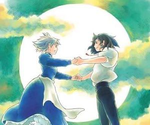 couple, sophie, and howl's moving castle image