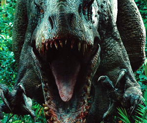 dinosaur, jurassic world, and indominus rex image