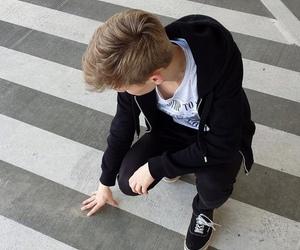 boy, grunge, and black image