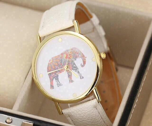 watch, elephant, and clock image